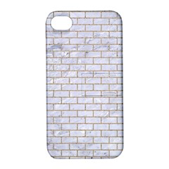 Brick1 White Marble & Sand (r) Apple Iphone 4/4s Hardshell Case With Stand