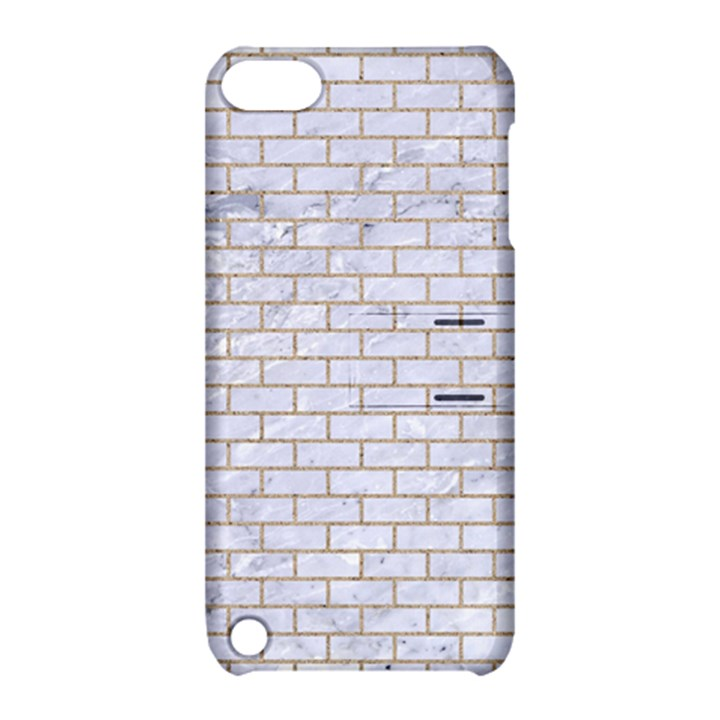 BRICK1 WHITE MARBLE & SAND (R) Apple iPod Touch 5 Hardshell Case with Stand