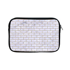 Brick1 White Marble & Sand (r) Apple Ipad Mini Zipper Cases