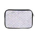 BRICK1 WHITE MARBLE & SAND (R) Apple iPad Mini Zipper Cases Front