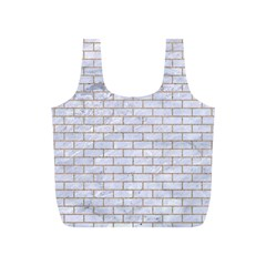 Brick1 White Marble & Sand (r) Full Print Recycle Bags (s)