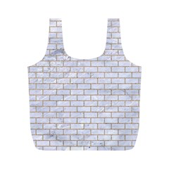 Brick1 White Marble & Sand (r) Full Print Recycle Bags (m)