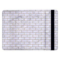 Brick1 White Marble & Sand (r) Samsung Galaxy Tab Pro 12 2  Flip Case