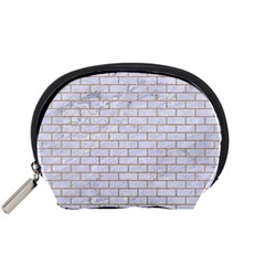 Brick1 White Marble & Sand (r) Accessory Pouches (small)