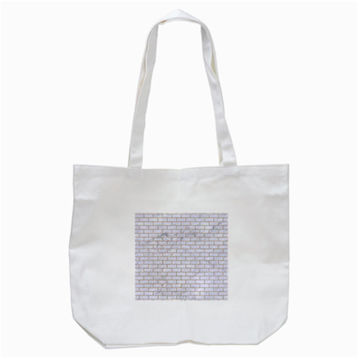 BRICK1 WHITE MARBLE & SAND (R) Tote Bag (White)