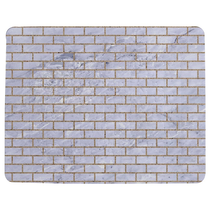BRICK1 WHITE MARBLE & SAND (R) Jigsaw Puzzle Photo Stand (Rectangular)