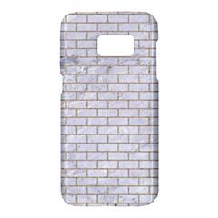 Brick1 White Marble & Sand (r) Samsung Galaxy S7 Hardshell Case