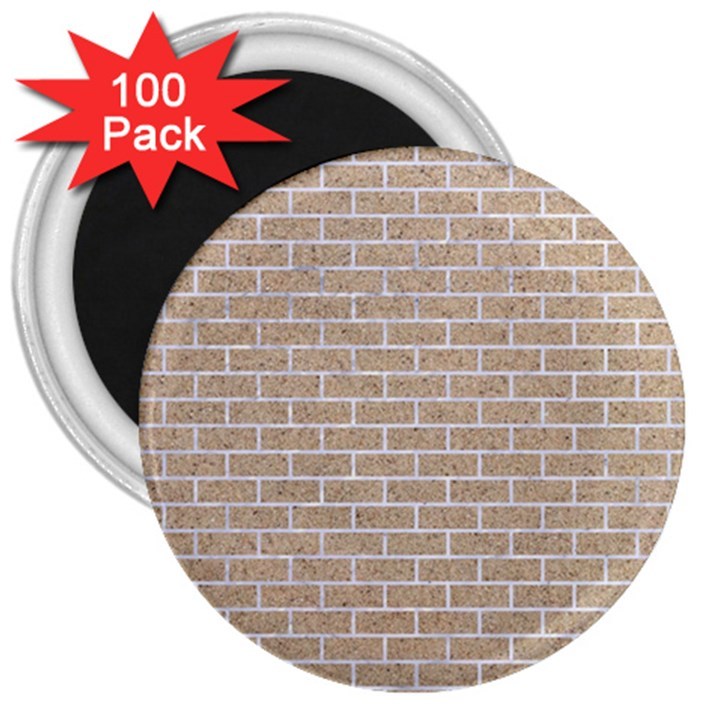 BRICK1 WHITE MARBLE & SAND 3  Magnets (100 pack)