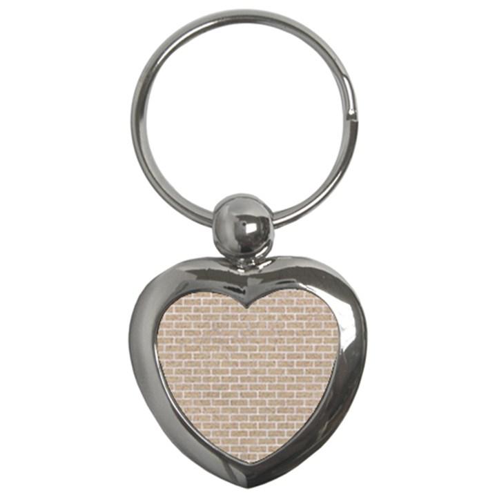 BRICK1 WHITE MARBLE & SAND Key Chains (Heart)