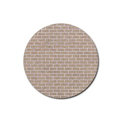 Brick1 White Marble & Sand Rubber Round Coaster (4 Pack)
