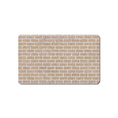 Brick1 White Marble & Sand Magnet (name Card)