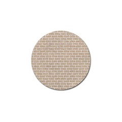 Brick1 White Marble & Sand Golf Ball Marker (10 Pack) by trendistuff