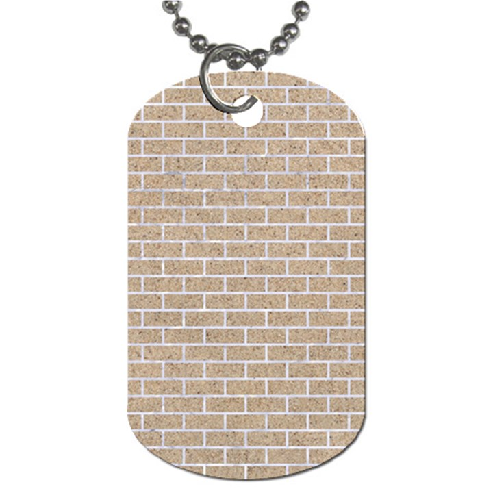 BRICK1 WHITE MARBLE & SAND Dog Tag (Two Sides)