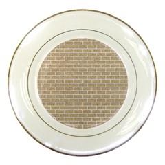 Brick1 White Marble & Sand Porcelain Plates