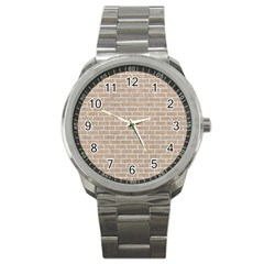 Brick1 White Marble & Sand Sport Metal Watch