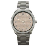 BRICK1 WHITE MARBLE & SAND Sport Metal Watch Front