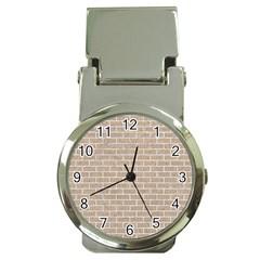 Brick1 White Marble & Sand Money Clip Watches
