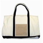 BRICK1 WHITE MARBLE & SAND Two Tone Tote Bag Front