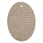 BRICK1 WHITE MARBLE & SAND Oval Ornament (Two Sides) Front