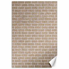 Brick1 White Marble & Sand Canvas 12  X 18