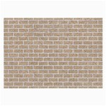 BRICK1 WHITE MARBLE & SAND Large Glasses Cloth (2-Side) Front