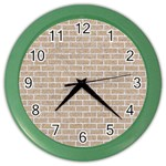 BRICK1 WHITE MARBLE & SAND Color Wall Clocks Front