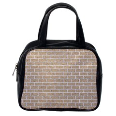 Brick1 White Marble & Sand Classic Handbags (one Side)