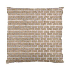 Brick1 White Marble & Sand Standard Cushion Case (one Side)