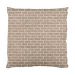 BRICK1 WHITE MARBLE & SAND Standard Cushion Case (One Side) Front