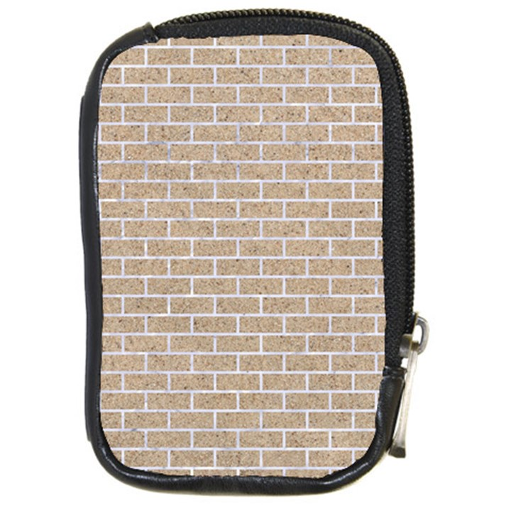 BRICK1 WHITE MARBLE & SAND Compact Camera Cases