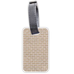 Brick1 White Marble & Sand Luggage Tags (one Side)  by trendistuff