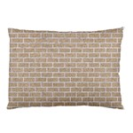 BRICK1 WHITE MARBLE & SAND Pillow Case (Two Sides) Front