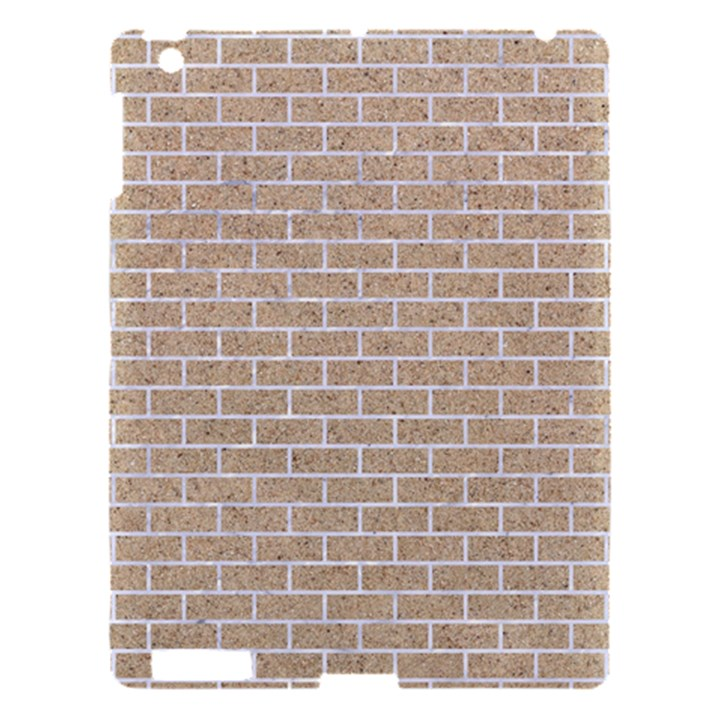 BRICK1 WHITE MARBLE & SAND Apple iPad 3/4 Hardshell Case