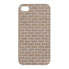 Brick1 White Marble & Sand Apple Iphone 4/4s Premium Hardshell Case