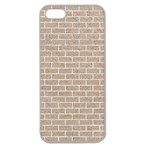 BRICK1 WHITE MARBLE & SAND Apple Seamless iPhone 5 Case (Clear) Front