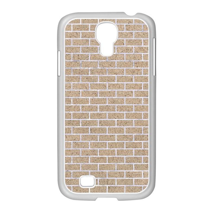 BRICK1 WHITE MARBLE & SAND Samsung GALAXY S4 I9500/ I9505 Case (White)