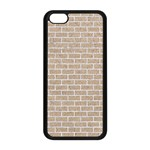 BRICK1 WHITE MARBLE & SAND Apple iPhone 5C Seamless Case (Black) Front