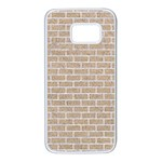 BRICK1 WHITE MARBLE & SAND Samsung Galaxy S7 White Seamless Case Front