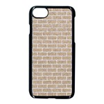 BRICK1 WHITE MARBLE & SAND Apple iPhone 8 Seamless Case (Black) Front