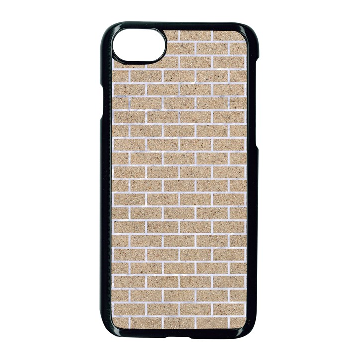 BRICK1 WHITE MARBLE & SAND Apple iPhone 8 Seamless Case (Black)