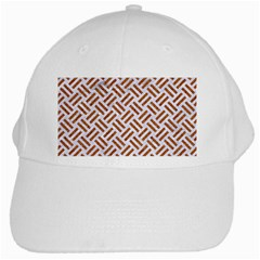Woven2 White Marble & Rusted Metal (r) White Cap
