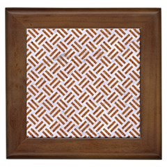 WOVEN2 WHITE MARBLE & RUSTED METAL (R) Framed Tiles