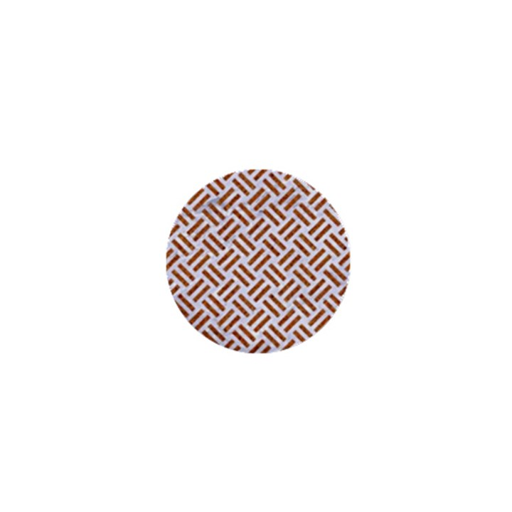 WOVEN2 WHITE MARBLE & RUSTED METAL (R) 1  Mini Magnets