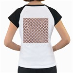 WOVEN2 WHITE MARBLE & RUSTED METAL (R) Women s Cap Sleeve T Back