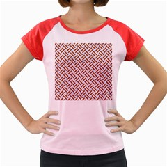 WOVEN2 WHITE MARBLE & RUSTED METAL (R) Women s Cap Sleeve T-Shirt