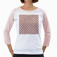 WOVEN2 WHITE MARBLE & RUSTED METAL (R) Girly Raglans