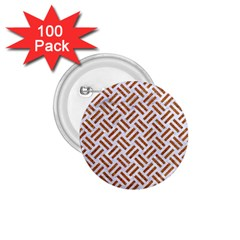 WOVEN2 WHITE MARBLE & RUSTED METAL (R) 1.75  Buttons (100 pack)