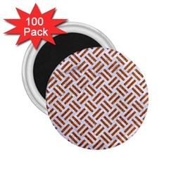 WOVEN2 WHITE MARBLE & RUSTED METAL (R) 2.25  Magnets (100 pack)