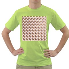 WOVEN2 WHITE MARBLE & RUSTED METAL (R) Green T-Shirt