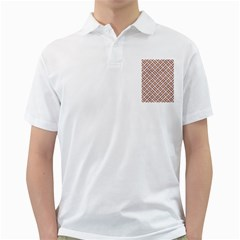 WOVEN2 WHITE MARBLE & RUSTED METAL (R) Golf Shirts